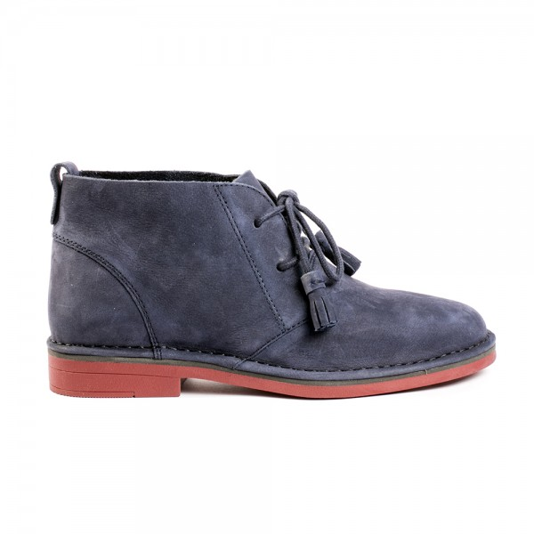 ДАМСКИ БОТИ CYRA CATELYN NAVY NUBUCK